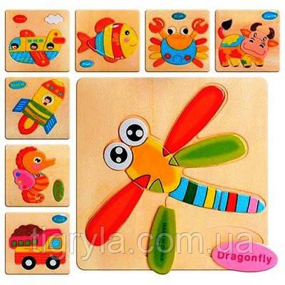Деревянная игрушка пазлы, фото 2