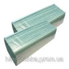 Полотенца бумажные листовые  V-сложения, 1-слойные зеленые 160 шт/упак, 25 уп/ящ