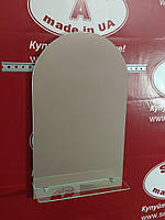 Зеркало арка в ванную с полочкой №9 (Б) /Дюбель 6х40 в Подарок