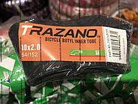 """Камера велосипедная TRAZANO 10""""x2.0, кривой сосок"""