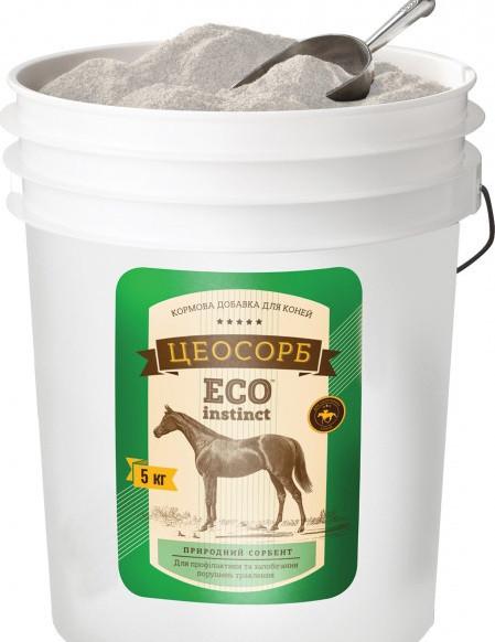 ЦЕОСОРБ ЭКО ИНСТИНКТ кормовая добавка очистка ЖКТ и печени, антиаллерген для лошадей, 5 кг