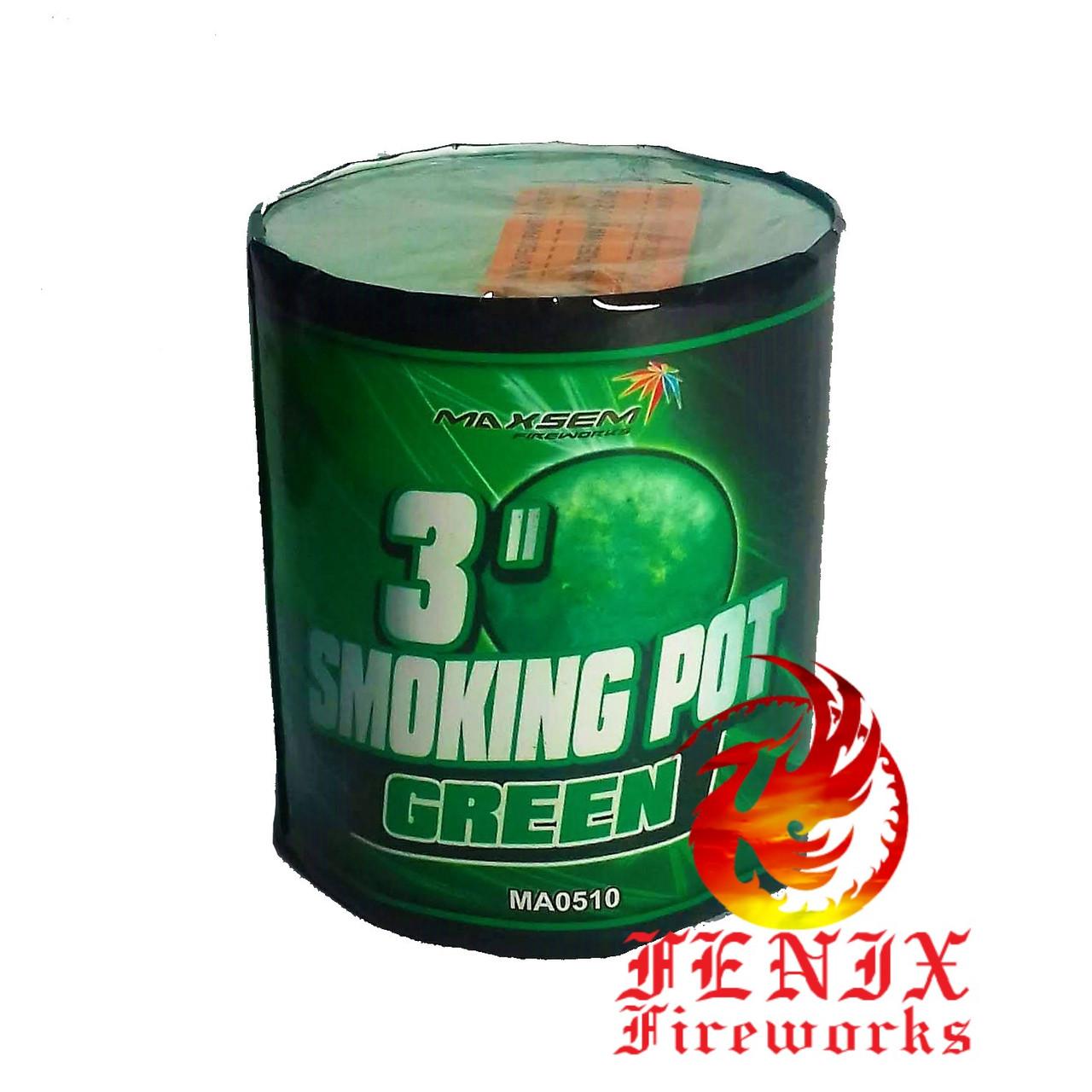 ЦВЕТНОЙ ДЫМ ЗЕЛЕНЫЙ ПРОФЕССИОНАЛЬНЫЙ Smoke Pot 60секунд MA0510/G