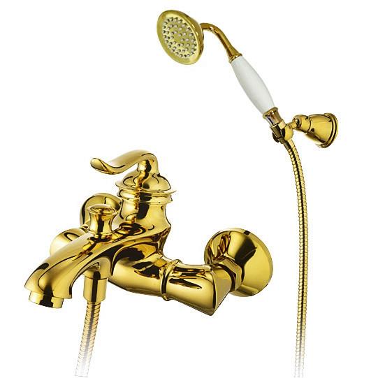 """Смеситель для ванны и душа Welle """"Vanessa"""", золото"""