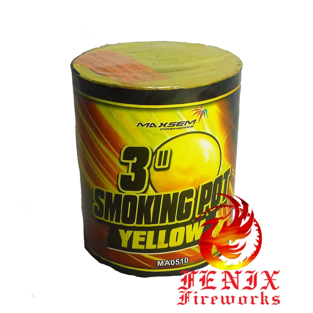 ЦВЕТНОЙ ДЫМ ЖЕЛТЫЙ ПРОФЕССИОНАЛЬНЫЙ Smoke Pot 60секунд MA0510/Y