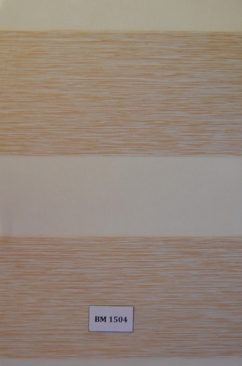 Рулонные шторы день-ночь бежевые ВМ-1504