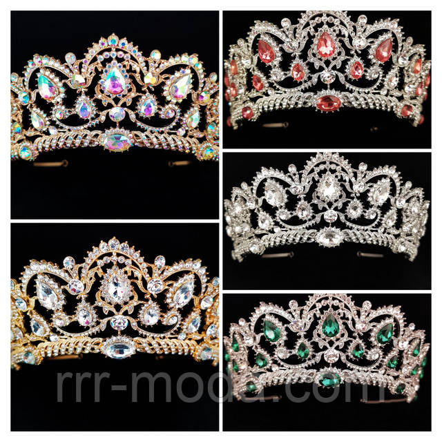 Модные золотые короны оптом.