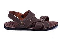 Мужские кожаные сандалии  Bonis Original Brown, фото 1