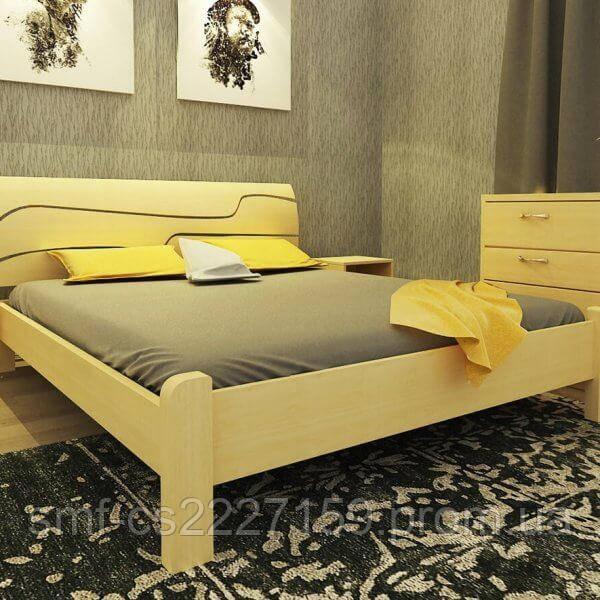 Ліжко ортопедичне Сміф Симфонія з натурального дерева