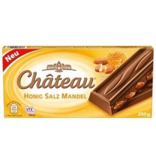 Молочный шоколад Chateau Honig Salz Mandel с миндалем, медом и солью 200гр. Германия
