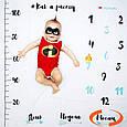 """Детский фотофон (фотопеленка) для фотосессий от 1 до 12 месяцев """"Как я расту"""", фото 3"""