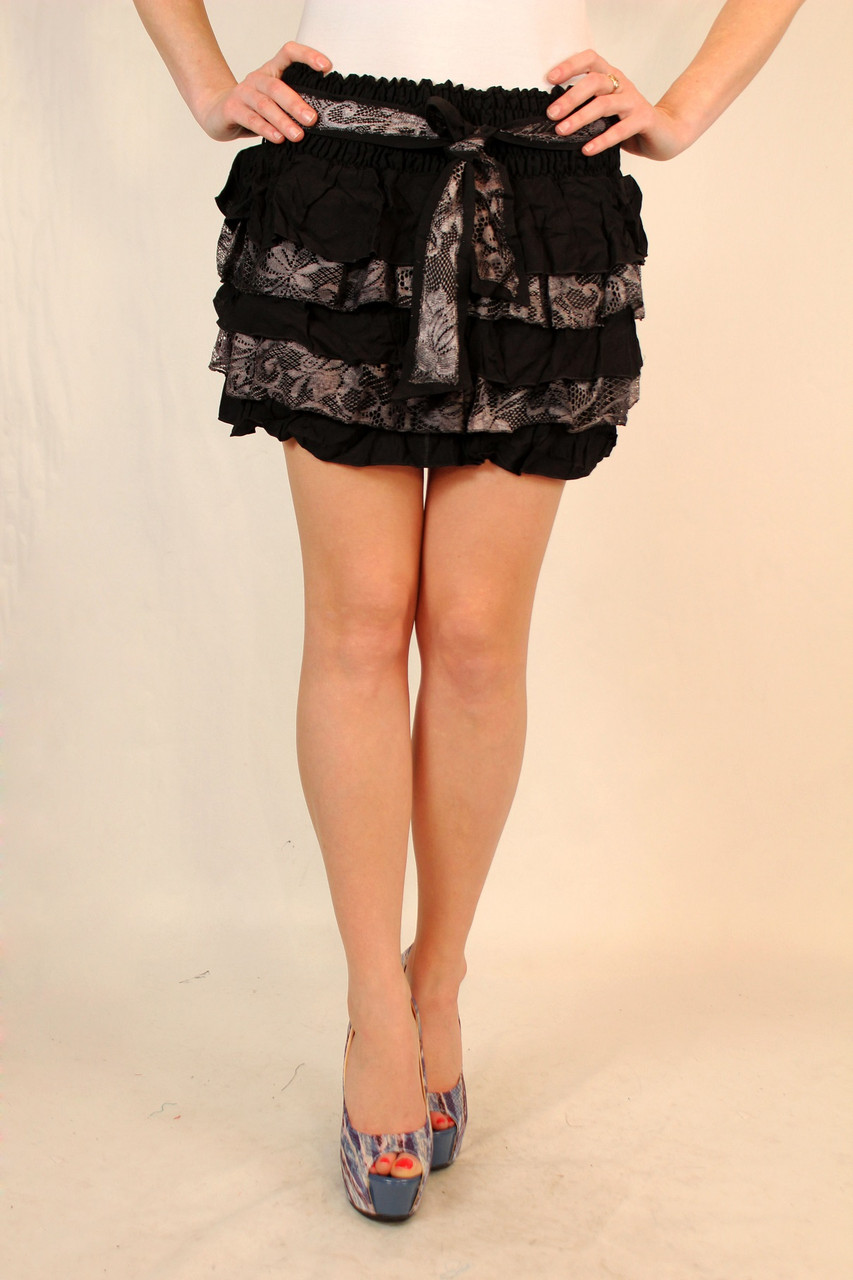 Молодежная короткая юбка с воланчиками 42-48 р