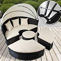 Кругле садове ліжко-диван з дашком, фото 1