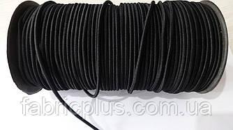 Резинка шляпная  3 мм черная Турция