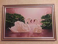 Лебединая верность (вышитая картина РУЧНОЙ РАБОТЫ)