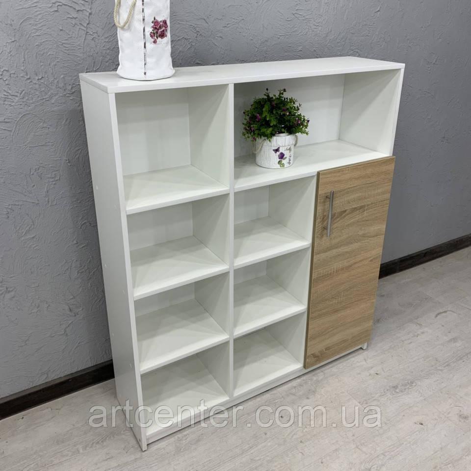 Шкаф с открытыми полочками и 1 дверцей