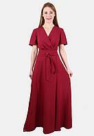 Длинное женское платье с запахом 44-50 р  ( разные цвета )