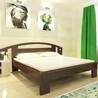 Двоспальне ліжко ортопедичне Сміф Марсель з натурального дерева