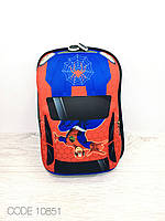 Детский рюкзак машина. 3D рюкзак. Рельефный рюкзак. Рюкзак для мальчиков. МакВин, Бэтмэн, Человек паук.  Человек-Паук (СпайдерМэн)