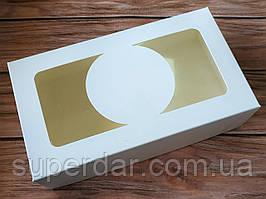 Коробка з прозорим верхом 200*115*50 мм, БІЛА