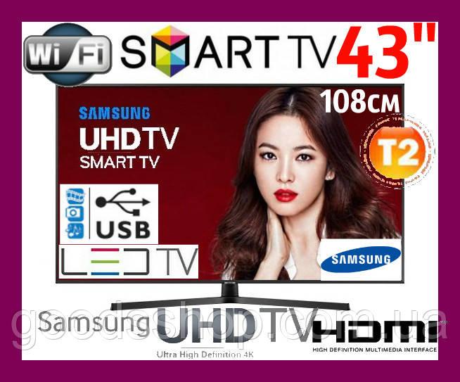 """Телевизор Samsung Самсунг 43 дюйма 4K Ultra HD Smart TV UE43NU7400 Т2 WiFi LED Телевізор 43"""" (108см) 2018 (A)"""