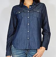 Рубашка джинсовая с длинным рукавом, 46-58 р-ры