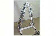 Оцинкованный гантельный ряд 1-10 кг со стойкой