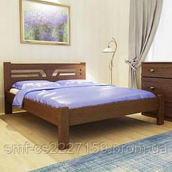 Ліжко дизайнерське Сміф Волошка з натурального дерева