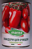 Помідори цілі очищені Marea у власному соку (Whole Peeled Tomatoes) Пелаті 400 г
