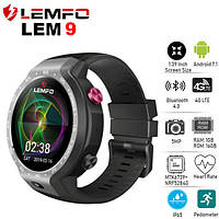 Умные часы Smart Watch Lemfo LEM9 Gray 1/16gb 4G IP67 камера 5МП 600мАч, фото 3