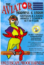 Шлея для великих папуг (Ара Какаду) AVIATOR LARGE (оригінал) + DVD (XL)
