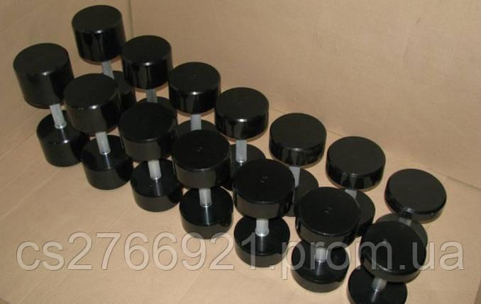 Покрашенный гантельный ряд 10-30 кг, фото 2