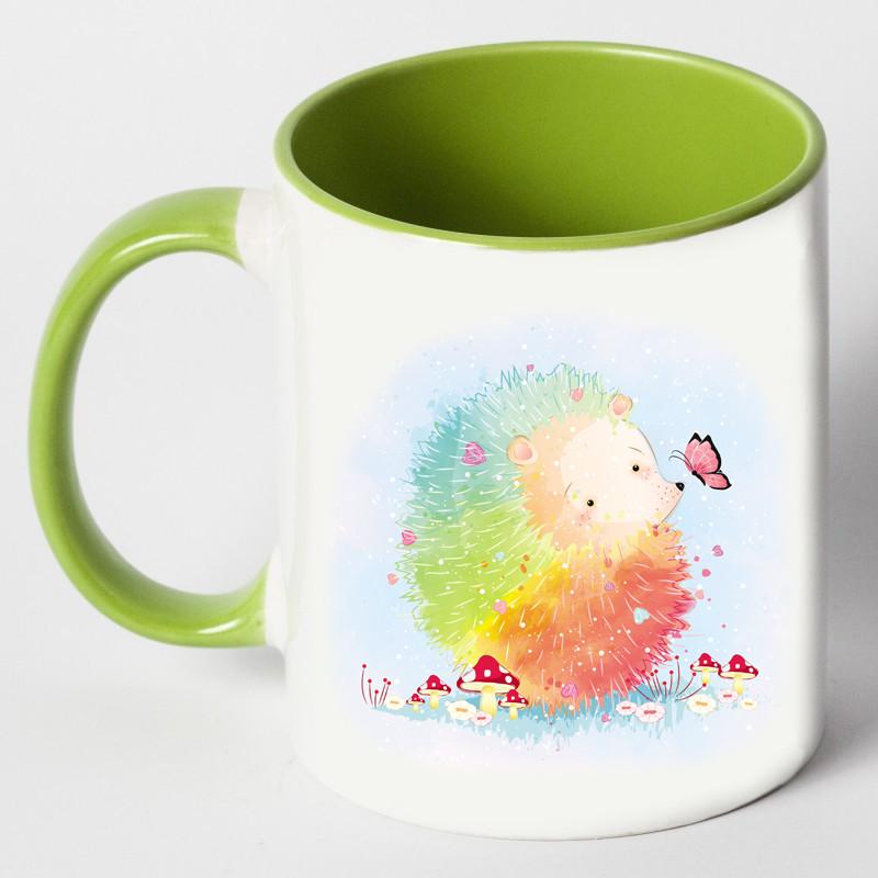 """Чашка """"Цветной ёжик"""""""