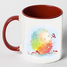 """Чашка """"Цветной ёжик"""", фото 2"""