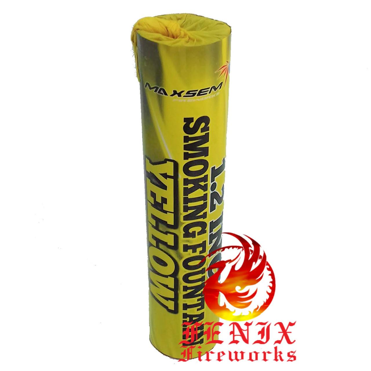 ЦВЕТНОЙ ДЫМ ЖЕЛТЫЙ ГУСТОЙ (Дымовая шашка профессиональная) Smoke Bombs 60секунд MA0513/Y