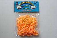 200 штук оранжево-белых (зебра) резиночек для плетения Loom Bands