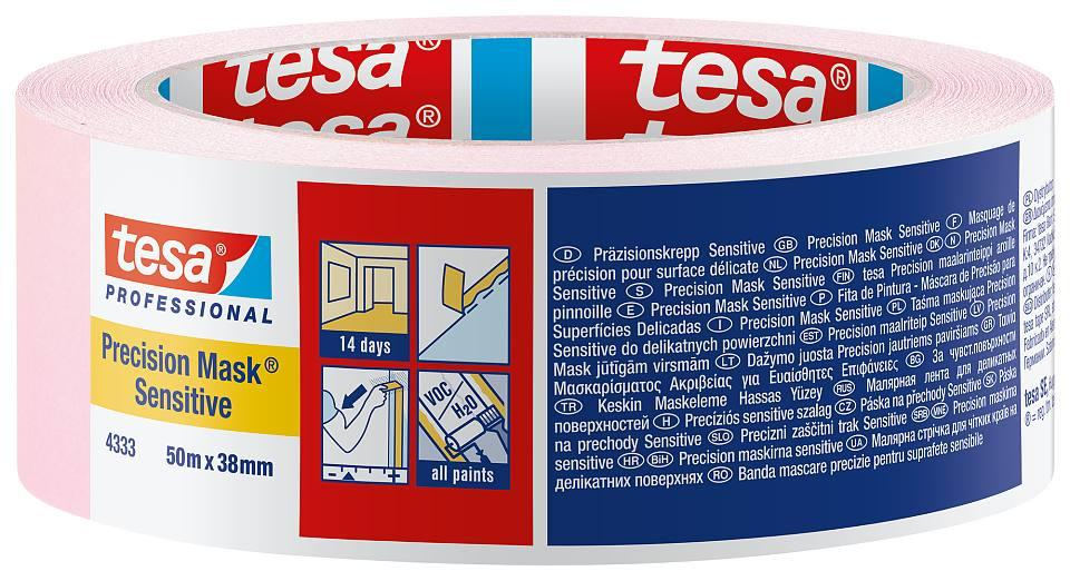Малярна стрічка TESA Precision Mask Sensitive 50м х 38мм