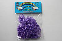 200 штук фиолетово-розовых (зебра) резиночек для плетения Loom Bands