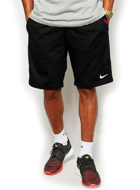 Мужские шорты в стиле Nike (Найк) спортивные трикотажные больших размеров (батал) Турция