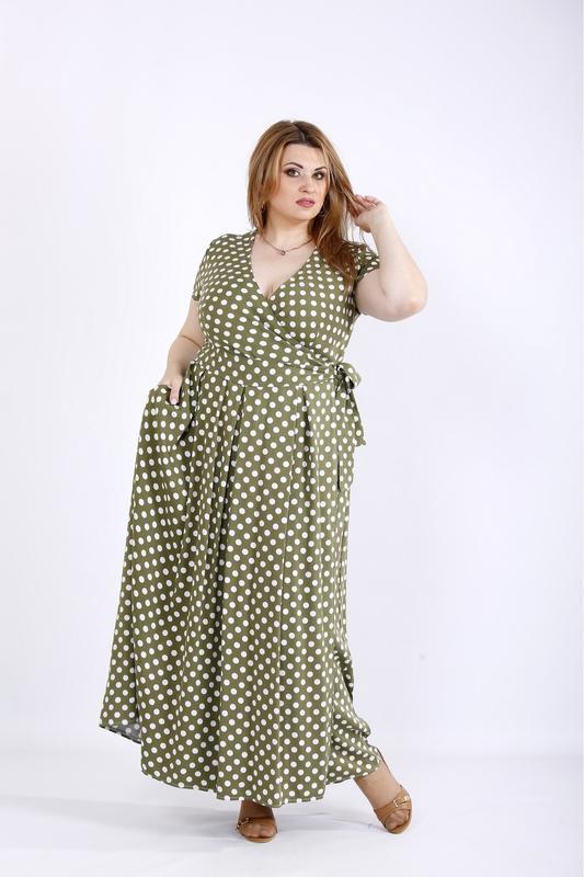 Платье женское летнее в пол, размер:42-74