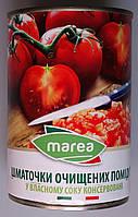 Шматочки очищених помідор Marea у власному соку (Chopped Tomatoed) Пелаті 400 г
