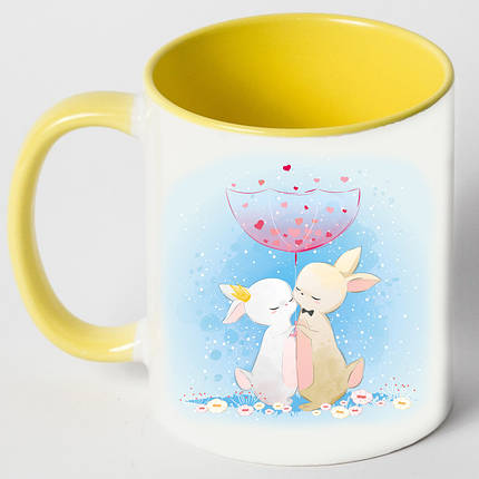 """Чашка """"Зайцы под зонтом"""", фото 2"""