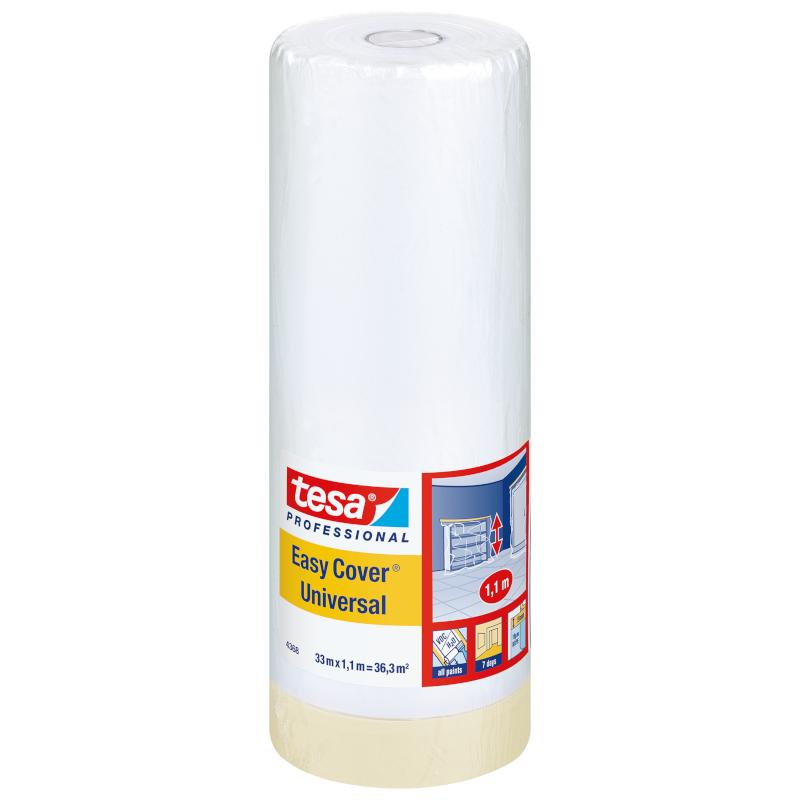 Малярна стрічка з плівкою TESA Easy Cover Universal 17м х 2600мм