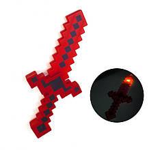 Меч Майнкрафт 38 см красный для мальчиков