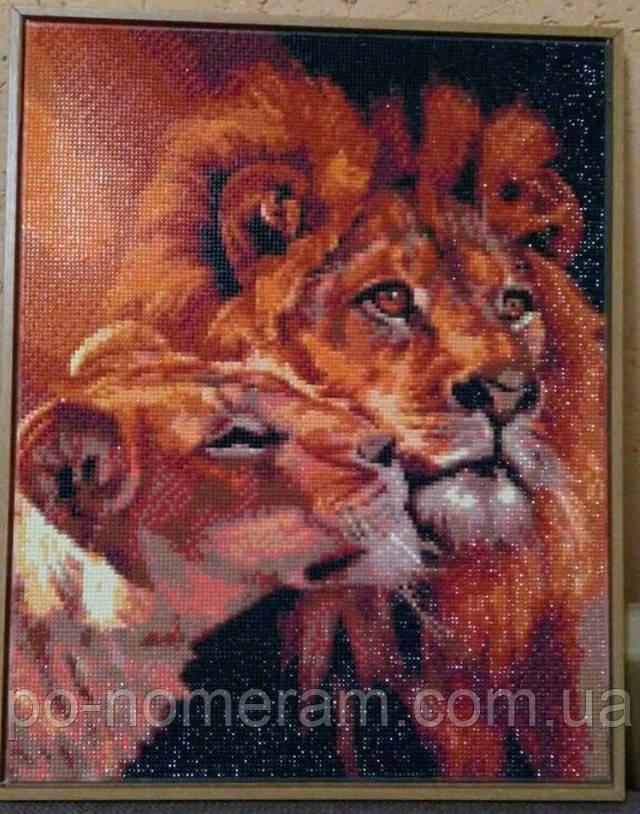 вышивка алмазами фото готовой работы пара львов
