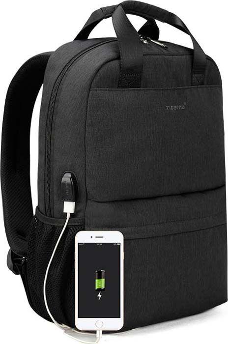 Городской рюкзак Tigernu T-B3508 для ноутбука 15.6 дюймов, черный
