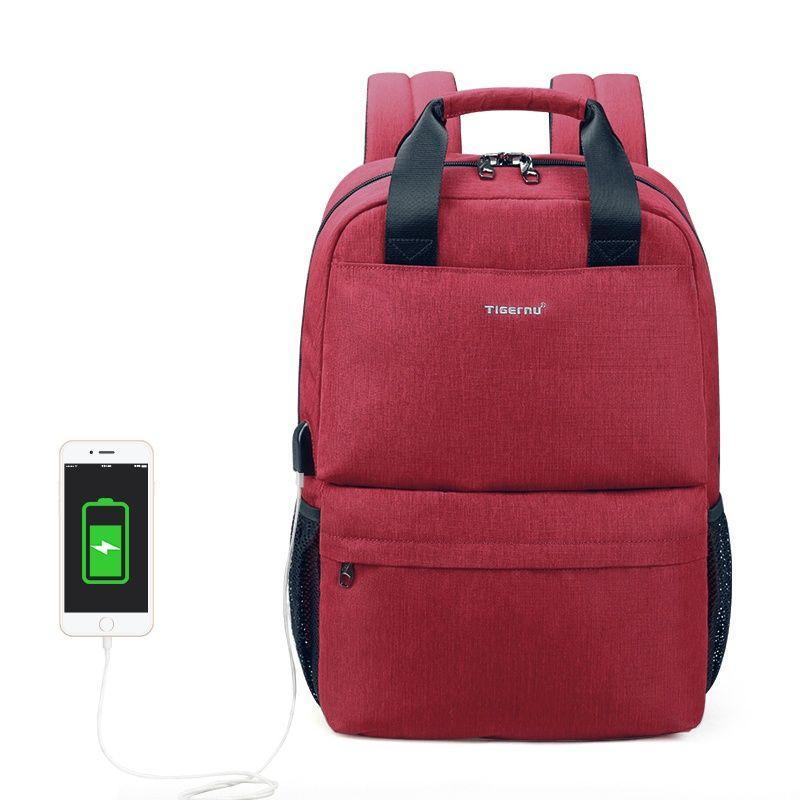 Городской рюкзак Tigernu T-B3508, 15.6 дюймов, красный