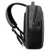 Городской рюкзак Tigernu T-B3217 в урбанистическом стиле, черный, фото 5