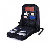 """Удобный рюкзак для ноутбука Tigernu T-B3188А 17"""" Черный, фото 4"""