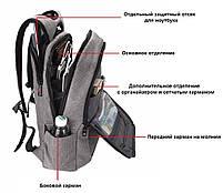 Рюкзак городской Tigernu T-B3090A, серый, фото 6