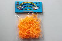 200 штук оранжевых резиночек для плетения Loom Bands